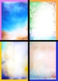 Collage der abstrakte Hand gezeichneten Lackhintergründe Stockfoto