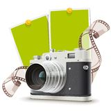 Alte Fotokameracollage Stockbild