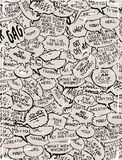 Collage der Comic-Buchdialogluftblasen Lizenzfreie Stockfotografie
