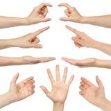Collage der Frauenhände lizenzfreie stockfotografie