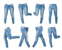 Collage der Jeans der Frauen Lizenzfreies Stockfoto