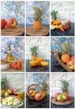 Collage der Nahrung lizenzfreie stockfotos