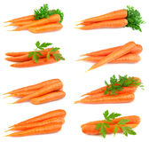 Collage der süßen Karotten Stockfoto