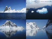 Collage der schönen antarktischen Landschaft des Lemaire Chan Lizenzfreie Stockfotografie