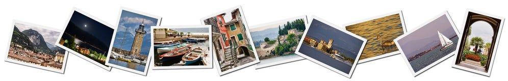 Collage der See Garda Fotos Lizenzfreies Stockfoto