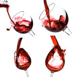 Collage der Weinschüsse Stockfotografie