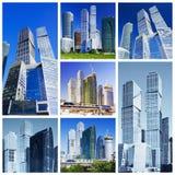 Collage der Wolkenkratzer lizenzfreie stockbilder