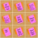 Collage des acronymes d'affaires écrits sur la note de papier Image libre de droits