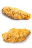 Collage des bandes de poulet panées par pain surgelé Images stock