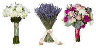 Collage des bouquets #3 de roses de pivoine Photo stock