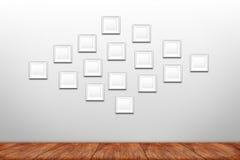 Collage des cadres blancs de photo Images stock