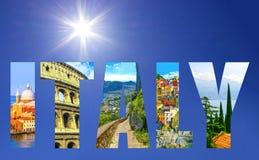 Collage des destinations italiennes importantes de voyage Image stock