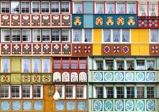 Collage des fenêtres uniques antiques photo libre de droits
