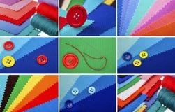 Collage des fils de couture photo libre de droits