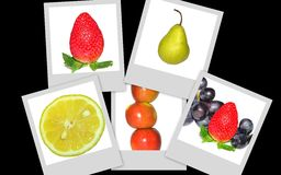 Collage des fruits Photographie stock