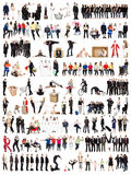 Collage des gens photos libres de droits