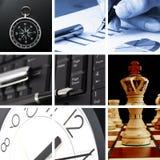 Collage des Geschäfts oder der Finanzierung Stockbilder