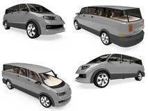 Collage des getrennten Konzeptautos Stockbilder