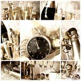 Collage des glücklichen neuen Jahres Stockfoto