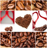 Collage des grains de café Photo libre de droits