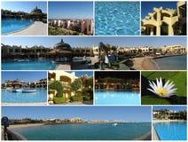 Collage des Hotels Stockfotografie