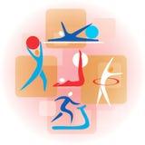 Collage des icônes de forme physique Images libres de droits