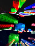 Collage des images brouillées d'éclairage images libres de droits
