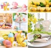 Collage des images colorées de Pâques Photo libre de droits
