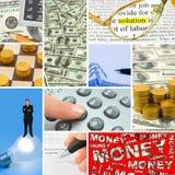 Collage des images d'affaires Images libres de droits