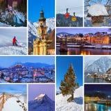 Collage des images de l'Autriche Image libre de droits