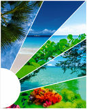 Collage des images de plage d'été - fond de nature et de voyage photos libres de droits