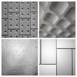 Collage des milieux orientés d'architecture en noir et blanc Images stock