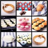 Collage des Muffins Lizenzfreie Stockfotografie