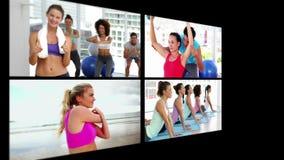 Collage des personnes sportives banque de vidéos