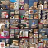 Collage des photos avec des livres Photo stock