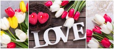 Collage des photos de Saint Valentin de St Photographie stock