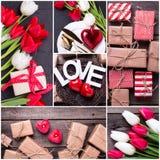 Collage des photos de Saint Valentin de St Photos stock