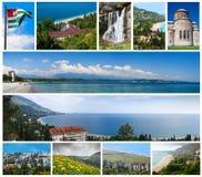 Collage des points de repère de l'Abkhazie Image libre de droits