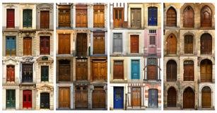 Collage des portes françaises photo libre de droits