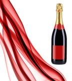 Collage des roten Rauches und des Champagners Lizenzfreies Stockbild