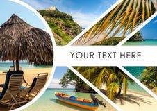Collage des scènes de vacances de plage Image libre de droits