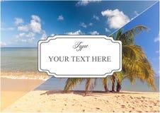 Collage des scènes de vacances de plage Photos stock