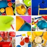 Collage des schönen Anstriches Lizenzfreie Stockfotos