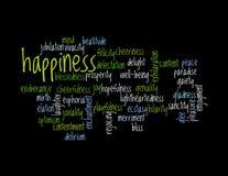 Collage des synonymes pour le bonheur illustration libre de droits