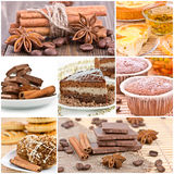 Collage of dessert. Royalty Free Stock Image