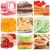 Collage of dessert Stock Photos