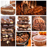 Collage of dessert. Royalty Free Stock Photo