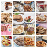 Collage desserts Stock Images