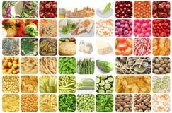 Collage determinado de la comida fotografía de archivo