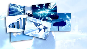 Collage di affari Immagini Stock Libere da Diritti